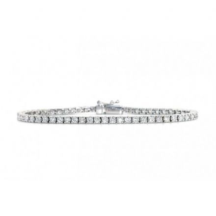 18K White Gold 2.00ct Diamond Bracelet, DBR01-2PKW